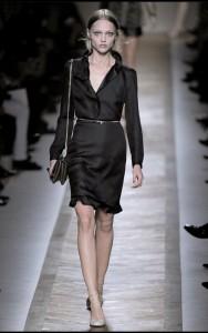 модные черные платья весна-лето 2011