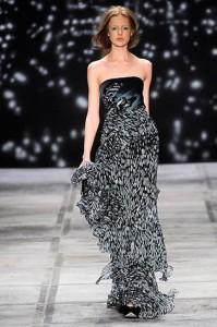 модные длинные вечерние платья 2011