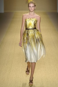 вечерние атласные платья 2011