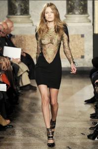 модные прозрачные вечерние платья 2011