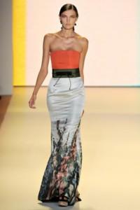 carolina herrera модные вечерние платья 2011