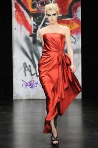 модные шелковые вечерние платья 2011