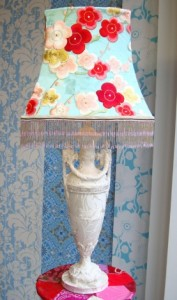 пэчворк лампа