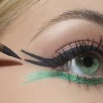 зеленые глаза подводка