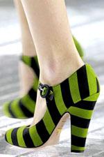 полосатая обувь весна-лето 2011