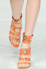 обувь с ремешками весна-лето 2011
