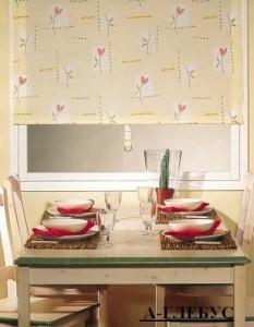 рулонные шторы для кухни фото