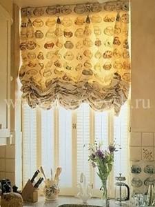 австрийские шторы на кухню фото