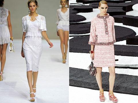 модные юбки лето-весна 2011 миди