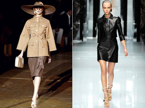 кожаные юбки лето-весна 2011