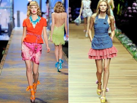 юбки лето-весна 2011 цвета