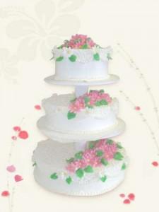 свадебный трехъярусный торт цена