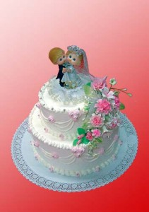 двухъярусный свадебный торт цена