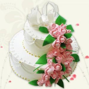 свадебный двухъярусный торт цена
