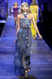 длинное молодежное платье 2011