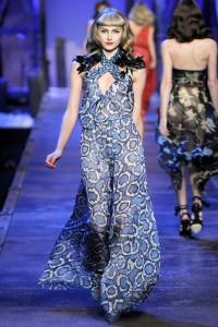 молодежное длинное платье 2011