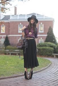 длинные юбки и ботильоны фото