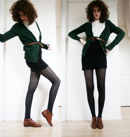 с чем носить ботильоны мини-юбки