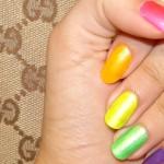 разноцветный модный маникюр 2011 фото