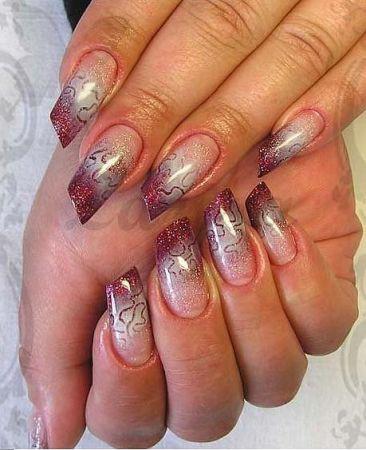 Дизайн ногтей цветная растяжка