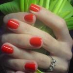 оранжевый модный маникюр 2011 фото