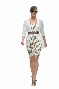 платье с кардиганом фото