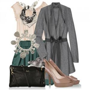 кардиган и юбка фото