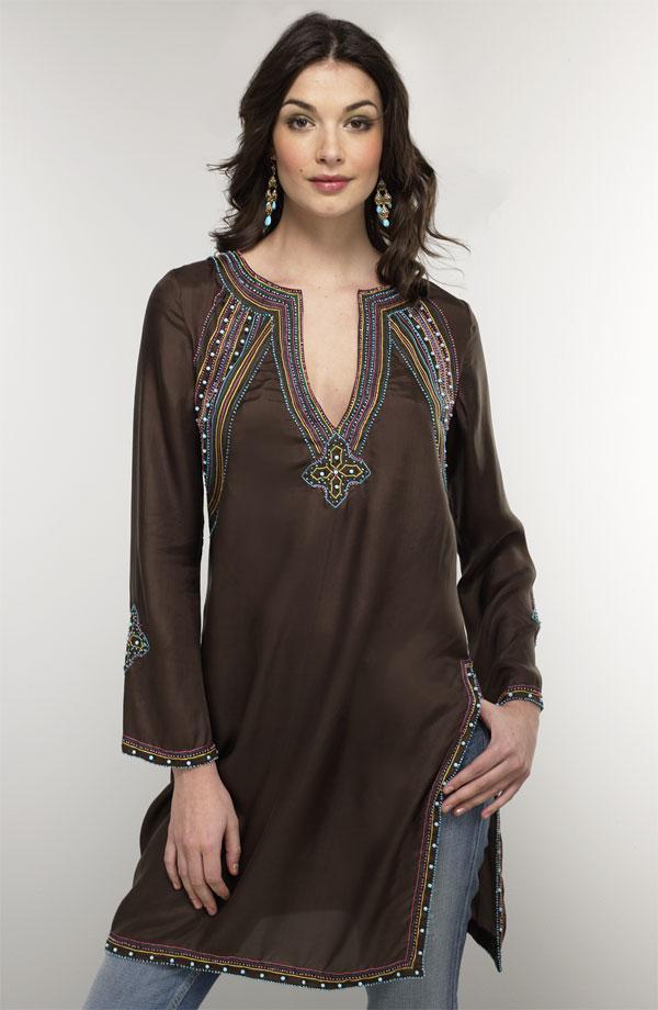 Туника с вышивкой в египетском стиле 12