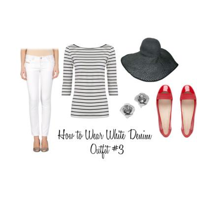 с чем носить белые джинсы мораская тематика