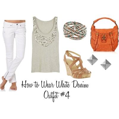 с чем носить белые джинсы яркий контраст
