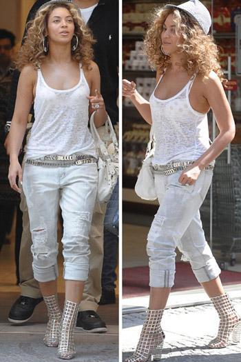 бейонсе в белых джинсах фото