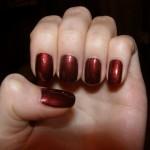 бордовый маникюр на коротких ногтях фото