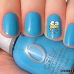 голубой маникюр на коротких ногтях фото