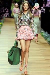цветные принты мода весна-лето 2011 фото
