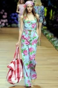принты с цветами мода весна-лето 2011 фото