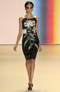 мода весна-лето 2011 принты с цветами