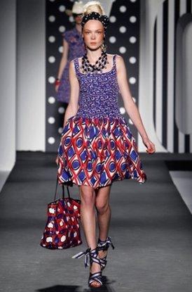 мода весна-лето 2011 абстрактные принты фото
