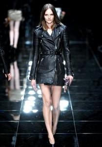 кожаные модные плащи весна-лето 2011