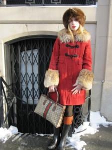 резиновые сапогис пальто фото