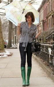 резиновые сапоги с джинсами фото