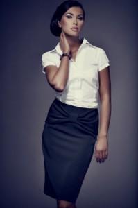 юбка-карандаш с белой футболкой фото