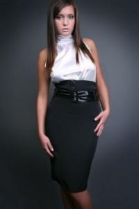 юбка-карандаш с белой блузой фото