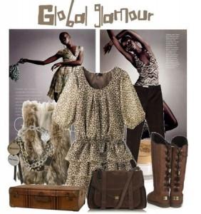 угги и платья