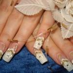 красивый свадебный маникюр фото 12