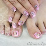 свадебный маникюр на коротких ногтях фото 4
