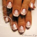 свадебный маникюр на коротких ногтях фото 5