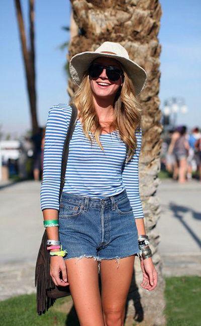 с чем носить джинсовые шорты - винтаж