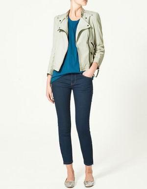 белая кожаная куртка Zara 2011-2012