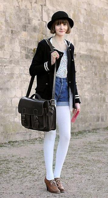 с чем носить джинсовые шорты в британском стиле