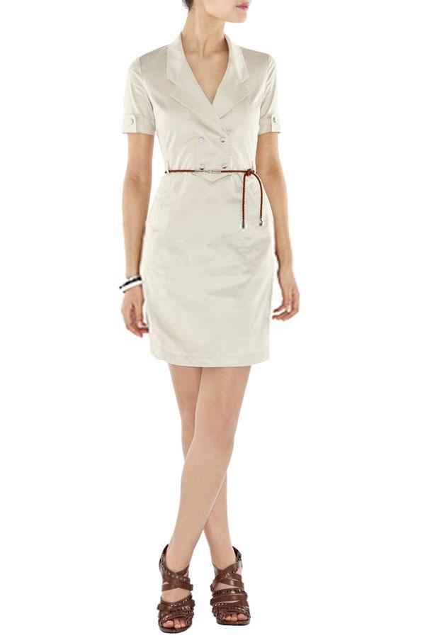 бежевое платье сафари карен миллен
